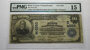 10 1902 Belle Vernon Pennsylvania Pa National Currency Bank Note Bill Ch. 4850