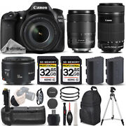 Canon Eos 90d Dslr Camera With 18-135mm Usm Lens + 55-250 Is Stm + 50mm 1.8 Ii