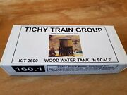 Tichy Train Group N Scale 2600 Wood Water Tank New In Box