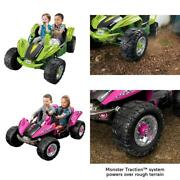 Power Wheels Dune Racer 12 Volt Battery Ride On Car Hand Support Adventures Game