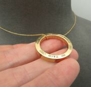 And Co Large 1837 Circle Pendant Necklace 1 18k Yellow Gold Authentic