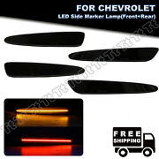 For 2005-2013 Chevy Corvette C6 Led Smoked Front Rear Bumper Side Marker Lights