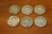 Lot Of 6 X 50 Cents 1940 1943 1947 1949 1951 1952