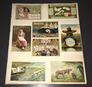 Victorian Trade Card Album Page - Soapine+black American+threads+bowel Complaint