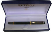 Waterman Le Man 100 Black Fountain Pen Med Pt With Ideal Nib In Box Mint