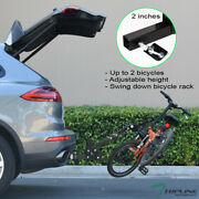 Topline 2-bicycle Adjustable Foldable Hitch Mount Bike Rack Carrier Fits Acura