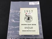 Indian Motorcycle Operation Care Adjustment Manual Book Parts 1917 Harley P54