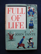 Full Of Life By John Fante - 1952 First Edition First Printing In Dust Jacket