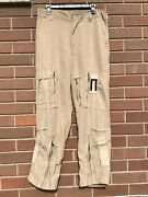Canadian Helicopter Tactical Pants Desert Tan Size Mens 34r 7034 Flame Resistant