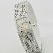 Longines Lady 60s 18 Kt White Gold Manual Winding Cal. 410 Serviced
