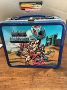 1984 Aladdin He-man And The Masters Of The Universe Metal Lunchbox W/thermos
