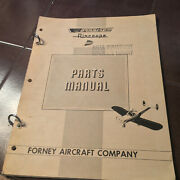 1959 Forney Aircraft Aircoupe Parts Manual With Price Lists.