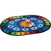 Carpets For Kids 9416 Sunny Day Learn And Play 8.25 Ft. X 11.67 Ft. Oval Carpet