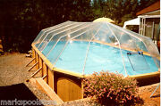 Oval Above Ground Swimming Pool Solar Sun Dome Pool Cover Heater Panel Sundome
