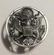 Wwii Us Army Air Force Military Hat Badge Military Insignia Pin 1-3/4 Diameter