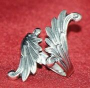 Angel Wings Ring Sterling Silver Wrap Around Vintage Avon Adjustable M-l New Box