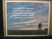 ...because I Love You Vintage Poster Garage 1970and039s Peace Embrace Cng1761