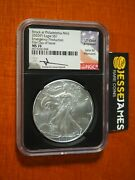 2020 P Silver Eagle Ngc Ms70 Mercanti Struck At Philadelphia Emergency Issue