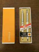 Parker Jotter Set Ballpoint Pen And 0.9mm Pencil Calender White Brass New In Box