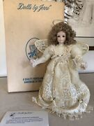 Handmade Victorian Angel Tree Topper Glass Eyes Lace From Dolls By Jerri