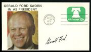Gerald Ford Signed Autograph Sworn In As President Cover 8/9/1974 Beckett Letter