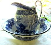 Antique George Jones And Co. Pitcher And Bowl Abbey Pattern England Circa 1900