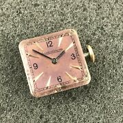 Antique Jaeger Lecoultre Ladies Watch Movement Cal 9 Ol - Sold As Is