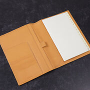 Kiton Mid-size Soft Calf Leather Organizer Wallet With Address Book Tan