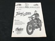 Indian Motorcycle News Chief Scout July 1979 Parts Book Manual P204