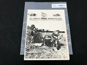Indian Motorcycle News Chief Scout October 1982 Parts Book Manual P207