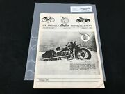 Indian Motorcycle News Chief Scout January 1986 Parts Book Manual P219