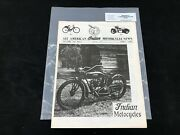 Indian Motorcycle News Chief Scout April 1986 Parts Book Manual P220