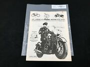 Indian Motorcycle News Chief Scout April 1987 Parts Book Manual P233a