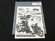 Indian Motorcycle News Chief Scout October 1992 Parts Book Manual P245