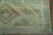 Pre-1900 Antique Vegetable Dye Geometric Khotan Egyptian Oriental Area Rug 4and039x8and039