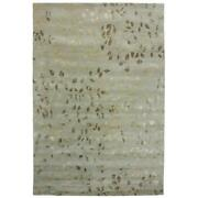 Due Process Stable Trading Tufted Leaves Seafoam Area Rug 6 X 9 Ft.