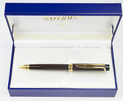 Waterman Liaison Ballpoint Pen Lacquer Ebonite Brown And Gold New In Box 26406