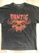 Danzig Red Horned Beast Crystar Worn Down Used Vintage Metal T Shirt Aged Cotton