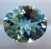 4.42ct Natural Aquamarine Expertly Faceted In Germany +certificate Included