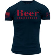 Grunt Style Beer Encourages T-shirt - Midnight Navy