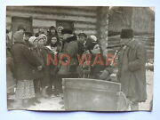 Wwii Original Soviet Photo Partisans W Ppsh Gun Talk W Civilian Women 1943