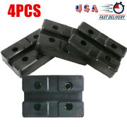 Set Of 4 Rubber Arm Pads Rectangle For Car Auto Post Lift Jack Accessories New