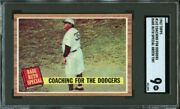 1962 Topps Babe Ruth Special Coaching Dodgers 142 - Green Tint - Sgc 9 Low Pop