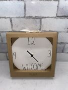 New Rae Dunn Artisan Collection Ll Welcome 9 Ceramic Wall Clock By Magenta