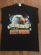 Vintage 1988 Harley Davidson Ssi Be All You Can Be Sleeveless Tee Shirt Size Xl