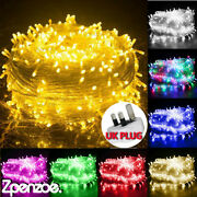 Christmas Led Fairy String Lights Plug In Outdoor Garden Xmas Tree Party Home Uk
