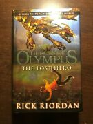 Signed Heroes Of Olympus - The Lost Hero By Rick Riordan - Puffin - H/b D/w