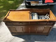 Vintage Magnavox Console Stereo Am/fm Radio Record Player With Original Document