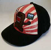 """Domo Ball Cap Hat """"big In Japan"""" Japan Mascot Fitted Embroidered Sz L/xl"""