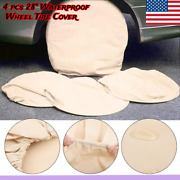 4pc 28 Wheel Tire Cover Wheel Protective Cover For Rv Truck Car Camper Trailer